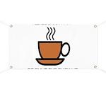 Enjoy a cup... Banner