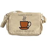 Enjoy a cup... Messenger Bag