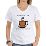Enjoy a cup... Women's V-Neck T-Shirt