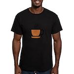 Enjoy a cup... Men's Fitted T-Shirt (dark)