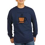 Enjoy a cup... Long Sleeve Dark T-Shirt