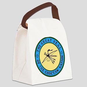 3-sealchoctaw1 Canvas Lunch Bag
