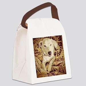 Reclining Jack Russell Canvas Lunch Bag