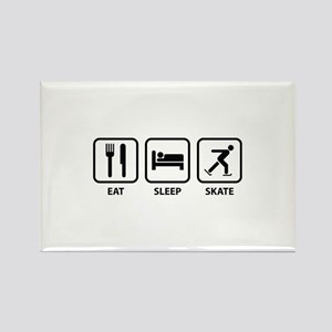 Eat Sleep Skate Rectangle Magnet