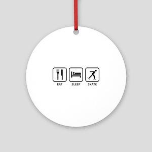 Eat Sleep Skate Ornament (Round)