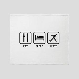 Eat Sleep Skate Throw Blanket