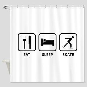Eat Sleep Skate Shower Curtain