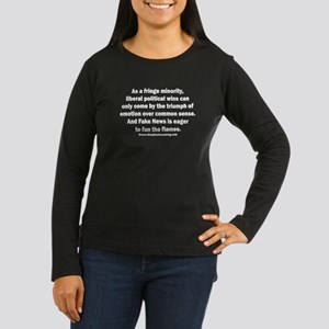 Emotion Over Sens Women's Long Sleeve Dark T-Shirt