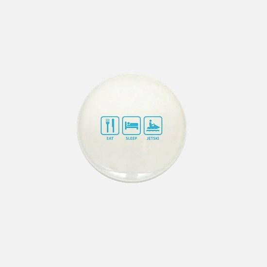Eat Sleep Jetski Mini Button