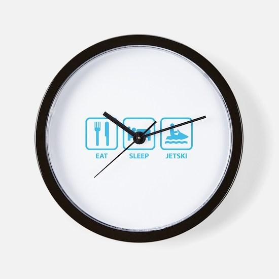 Eat Sleep Jetski Wall Clock