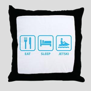 Eat Sleep Jetski Throw Pillow