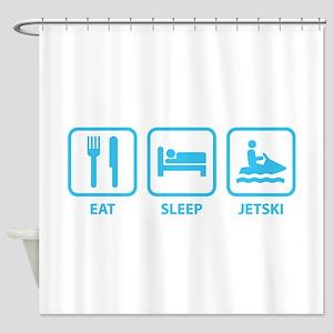Eat Sleep Jetski Shower Curtain