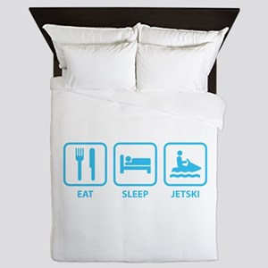 Eat Sleep Jetski Queen Duvet