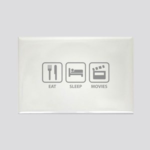 Eat Sleep Movies Rectangle Magnet