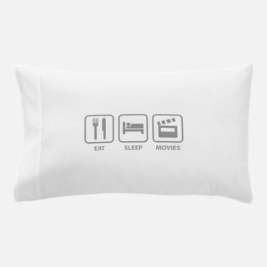 Eat Sleep Movies Pillow Case