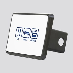 Eat Sleep Movies Rectangular Hitch Cover