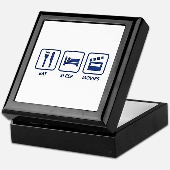 Eat Sleep Movies Keepsake Box