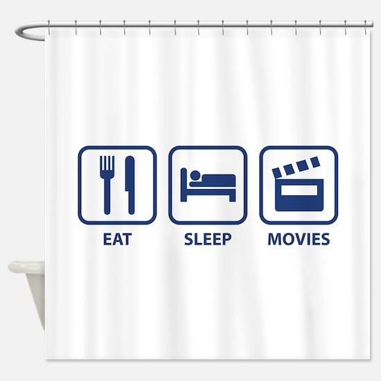 Eat Sleep Movies Shower Curtain