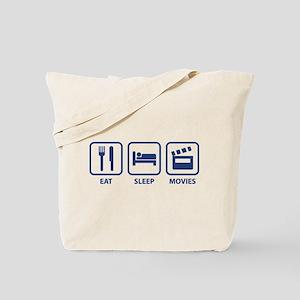 Eat Sleep Movies Tote Bag