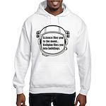Science flies you to the moon Hooded Sweatshirt