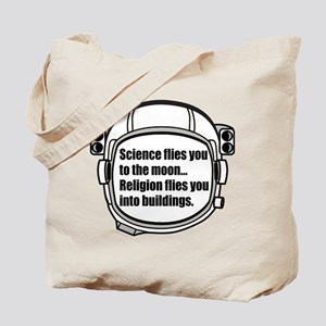 Science flies you to the moon Tote Bag