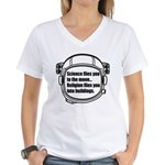 Science flies you to the moon Women's V-Neck T-Shi
