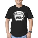 Science flies you to the moon Men's Fitted T-Shirt