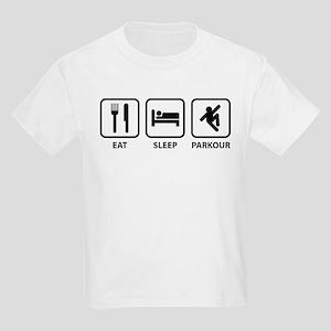 Eat Sleep Parkour Kids Light T-Shirt