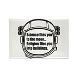 Science flies you to the moon Rectangle Magnet