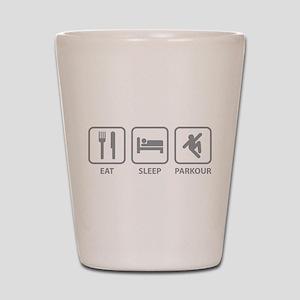 Eat Sleep Parkour Shot Glass
