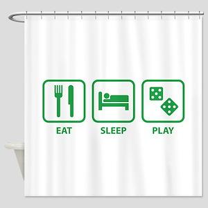 Eat Sleep Play Shower Curtain