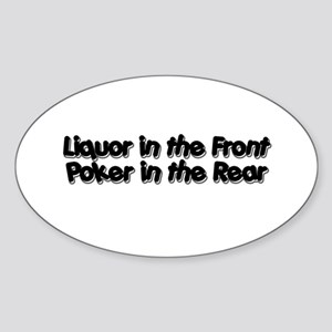 Liquor in the Front, Poker in the Rear Sticker (Ov