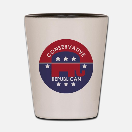 Conservative Republican Shot Glass