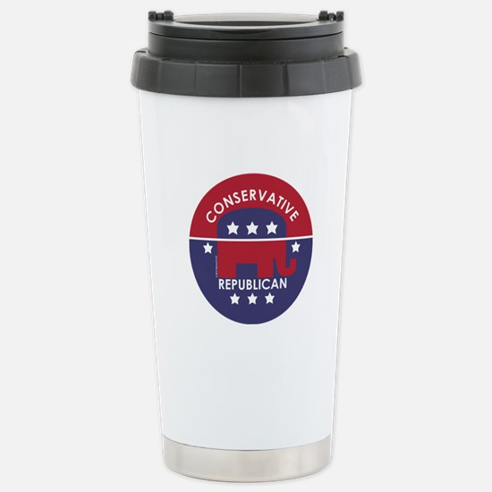 Conservative Republican Stainless Steel Travel Mug