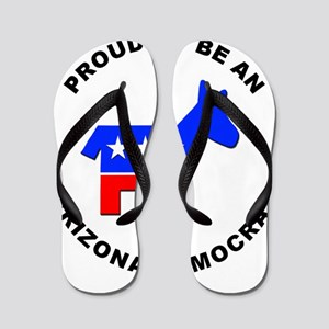 Arizona Democrat Pride Flip Flops