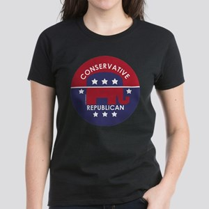 Conservative Republican Women's Dark T-Shirt