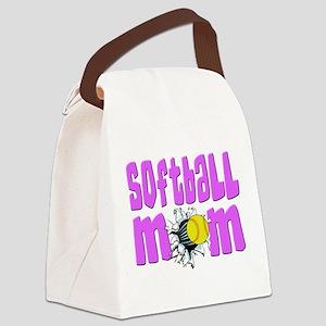 Softball mom Canvas Lunch Bag