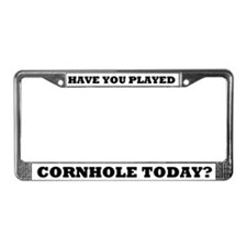 Cornhole Sayings License Plate Frame