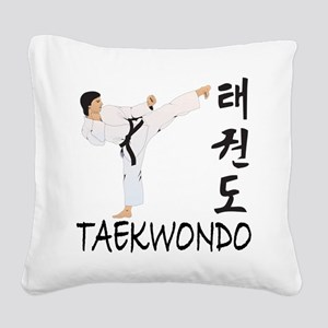 old tae kwon do(pink) Square Canvas Pillow