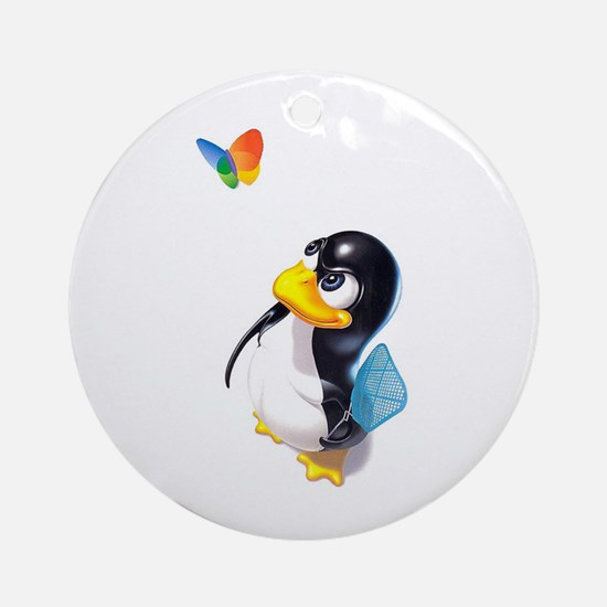 Tux Gear Ornament (Round)