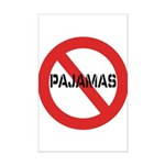 No Pajamas Mini Poster Print