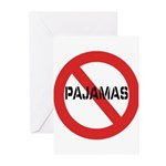 No Pajamas Greeting Cards (Pk of 10)