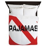 No Pajamas Queen Duvet