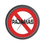 No Pajamas Wall Clock