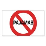 No Pajamas Sticker (Rectangle 10 pk)