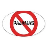 No Pajamas Sticker (Oval 50 pk)