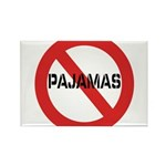 No Pajamas Rectangle Magnet