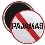No Pajamas Magnet