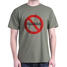 No Pajamas Dark T-Shirt