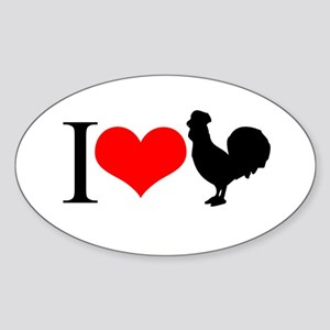 I love Cock Oval Sticker